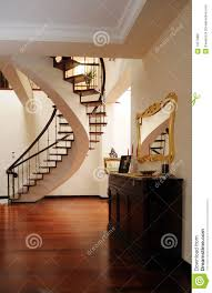 nice foyer with interior stairs stock image image 13079881