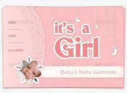baby girl announcements baby girl announcement postcard by dreamwarrior graphicriver