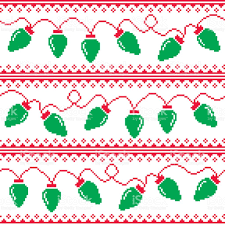 christmas tree lights seamless pattern ugly christmas sweater