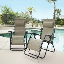 Bliss Gravity Free Recliner Zero Gravity Reclining Outdoor Lounge Chair 2 Pack