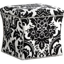 fiorenza storage ottoman classic chic black white polyvore