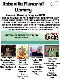 abbeville bureau summer reading program entertainers abbeville memorial library