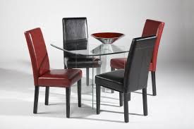 Modern Dining Table 2014 Dining Room Set With White Leather Chairs And Glass Table Top