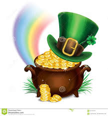 st patrick u0027s day leprechaun pot of gold royalty free stock image