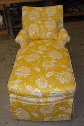 Floral Chaise A Happy Yellow Lounge Chair It U0027s Bout Time Upholstery
