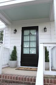 Teal Front Door by Planting U2013 An Aspiring Abode