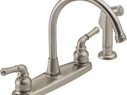 brushed nickel single handle kitchen faucet sink u0026 faucet stunning delta brushed nickel kitchen faucet delta