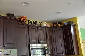 ideas for tops of kitchen cabinets above kitchen cabinet decor