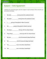 subject u2013 verb agreement u2013 fun and printable third grade grammar