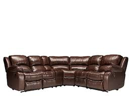 bryant ii 6 pc leather power reclining sectional sofa cognac