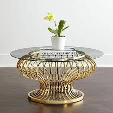 gold glass coffee table endearing round gold coffee table gaultier gold round coffee table