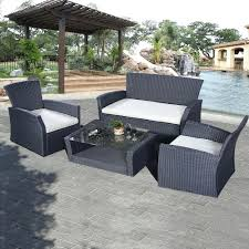 cheap patio furniture sets with umbrella outdoor under 300 wicker