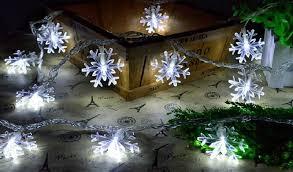 Snowflake Lights Outdoor 10m 100 Snowflake String Lights Led Strip Waterproof Christmas