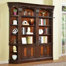 corner bookcase with doors parker house corsica 3 piece library wall corner bookcase
