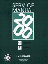 100 96 chevy camaro factory service manual 2010 2015