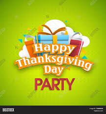 thanksgiving party flyer happy thanksgiving day party celebration poster banner or flyer