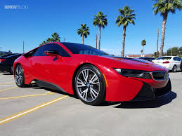 cars bmw red bmw i8 protonic red shows up at local dealerships