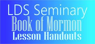 hollyshome church fun lds seminary book of mormon lesson handouts