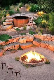 Backyard Firepit Ideas Best 25 Rustic Fire Pits Ideas On Pinterest Firepit Ideas