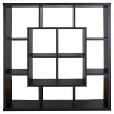Shelf Room Divider Showie Modern Open Square Bookcase Room Divider Espresso Homes