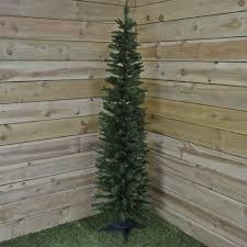 150cm 5ft snowtime pencil style slim tree in green ebay