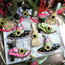 halloween cookies witch hats brooms and boits halloween cakes