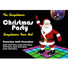 Christmas Invite Cards Personalised Christmas Party Invites Or Cards Disco Santa Buzz