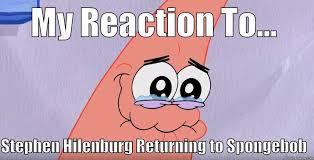 Joy Meme - spongebob tears meme