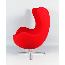 mid century modern reproduction egg chair red
