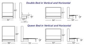 Vancouver Sofa Beds by Italian Wall Bed Sofa Murphysofa Smart Furniture