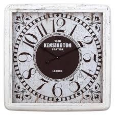 yosemite home decor 32 in x 32 in square iron wall clock with
