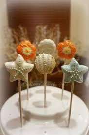 beach cake pops under the sea shell cake pops cake pops von my