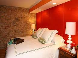 classic small bedroom paint ideas with comfy bed and wooden