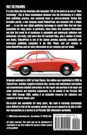 porsche 356 owners workshop manual 1948 1965 floyd clymer
