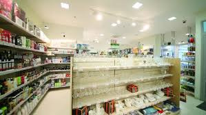 home interior products for sale shelves with medicines in a pharmacy store healthcare products for