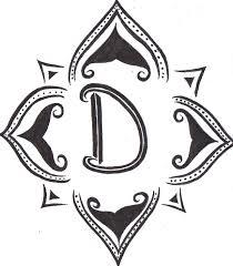 tattoo letter d designs