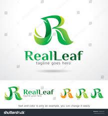 r logo real leaf letter r logo template stock vector 349843223 shutterstock