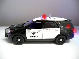 toy police cars with working lights and sirens for sale custom built 1 18 replica of the fort worth police ford explorer suv