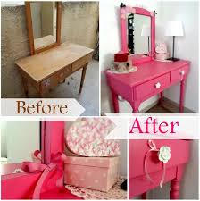 Pink Vanity Table Before And After Pink Vanity Table Olga The D I