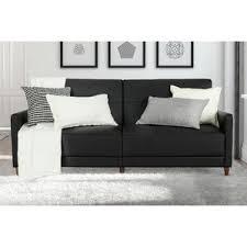 black convertible sofa futons you u0027ll love wayfair