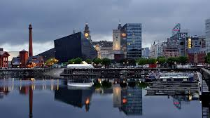 houses liverpool waterside reflection harbor boats city cool