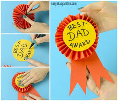 paper ribbon diy paper award ribbon s day craft idea easy peasy and