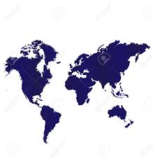 vector map of the world blue map world vector image icon royalty free cliparts