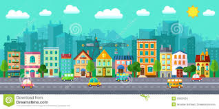 flat design city in a flat design stock vector image 53602924