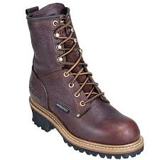 womens work boots ca421 womens brown leather logger work boot