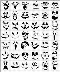 decorate halloween jack lantern faces cut