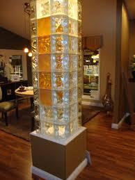 glass block pillar garden planters pinterest glass blocks