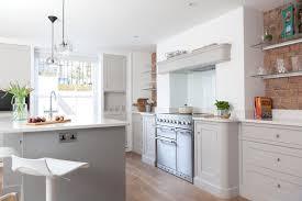edmondson interiors chic pale grey u0026 white basement kitchen in a
