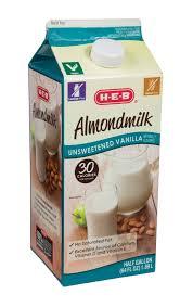 h u2011e u2011b unsweetened vanilla almondmilk u2011 shop milk at heb