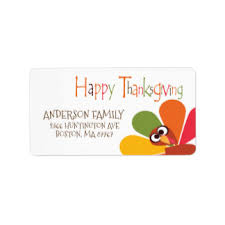 thanksgiving labels thanksgiving shipping address return address labels zazzle